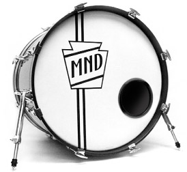 Bass Drum with Vintage Bass Drum Shield Logo