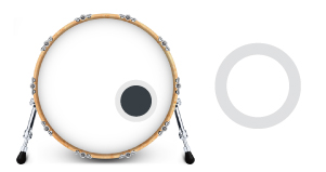 Hole Reinforcer in a bass drum head