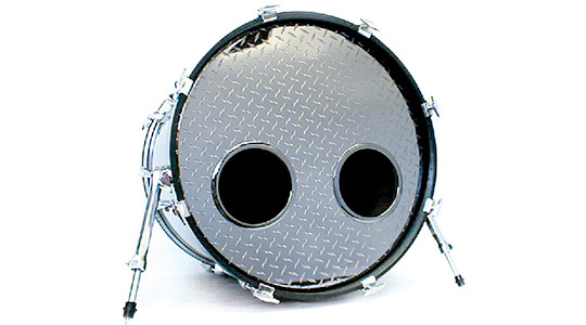 metallicheads chrome sparkle bass drum heads vintage logos. Black Bedroom Furniture Sets. Home Design Ideas