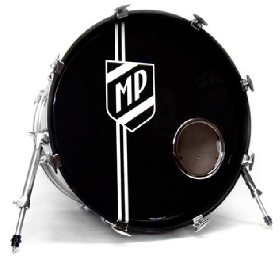 bass drum shield logo vintage style logos for drum kits vintage logos. Black Bedroom Furniture Sets. Home Design Ideas