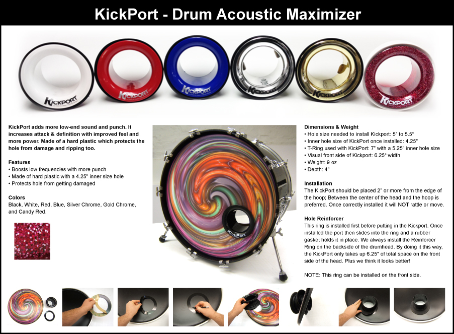 Bass Drum Port Holes - Drum port installation options